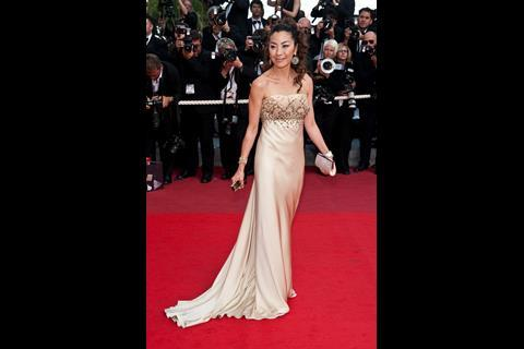 """Actress Michelle Yeoh arrives at the premiere of """"Inglorious Basterds"""" at the 62nd Cannes Film Festival in Cannes."""